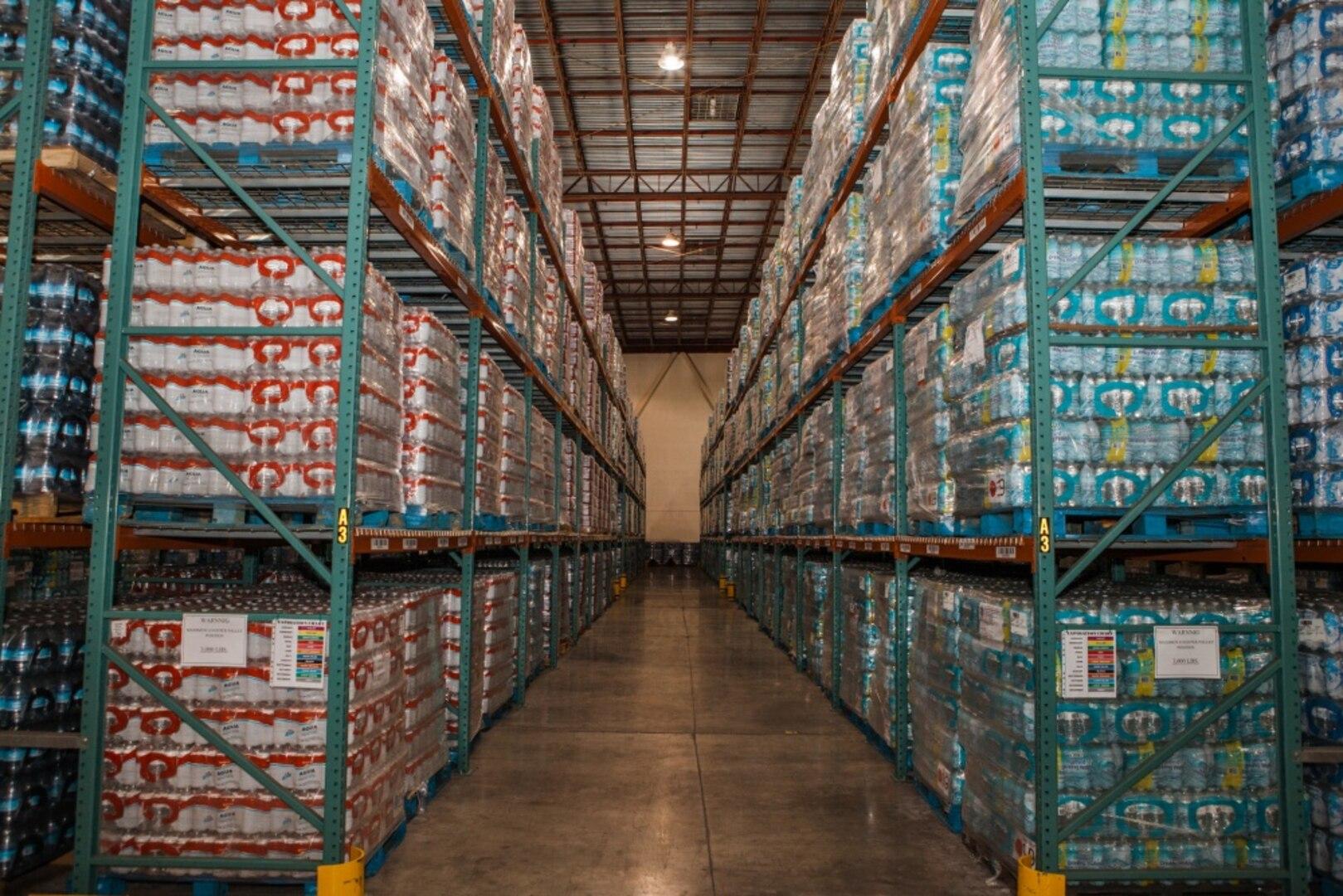 Commodities at FEMA's Caribbean Distribution Center in San Juan, Puerto Rico, May, 30, 2018.