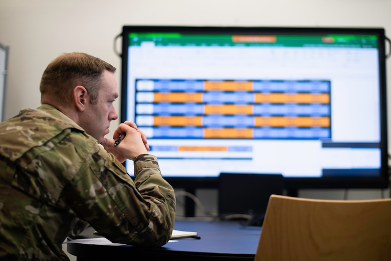 Photo of air advisor attending a video conference