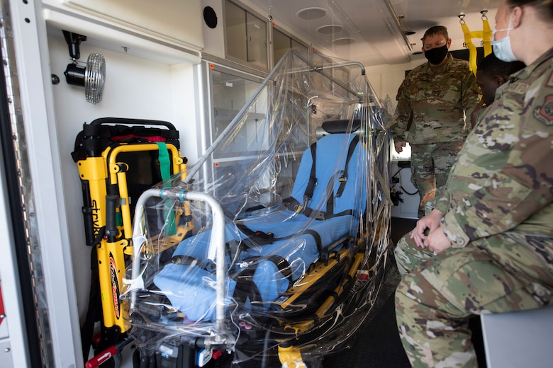 photos of Airmen describing innovative efforts being made to better protect first responders