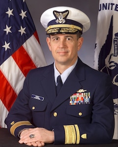Portrait photograph of retired Coast Guard Rear Admiral Dale Gabel.