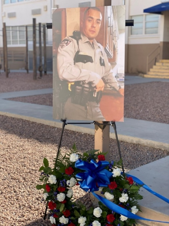 A memorial for El Paso County Deputy Peter Herrera was part of the 2020 Peace Officers Memorial Day event at Fort Bliss, Texas. Herrera was killed in the line of duty in March 2019. (Courtesy photo)