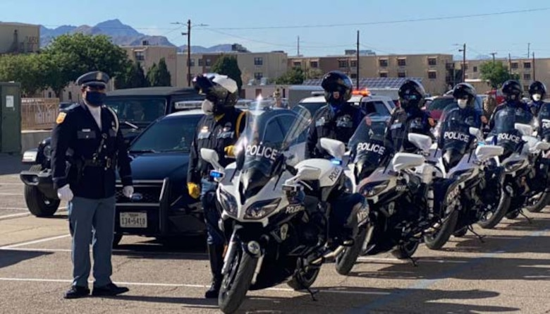 El Paso area police officers take part in the 2020 Peace Officers Memorial Day on Fort Bliss, Texas. (Courtesy photo)
