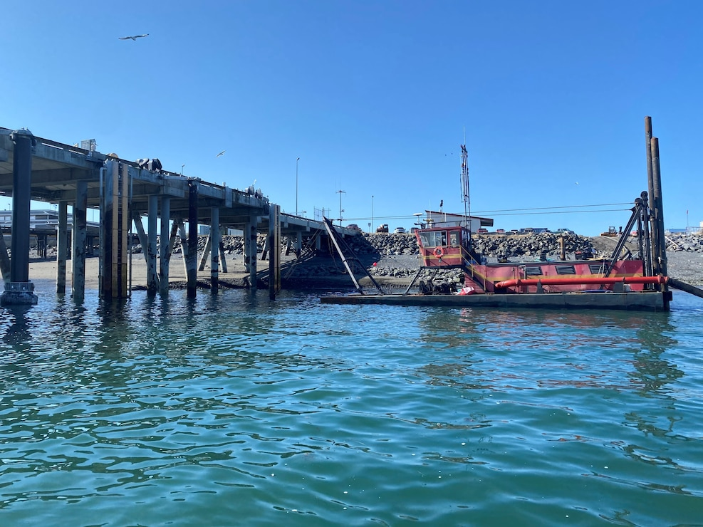 Alaska District completed maintenance dredging in Homer  in the U.S. Coast Guard berth of the harbor.
