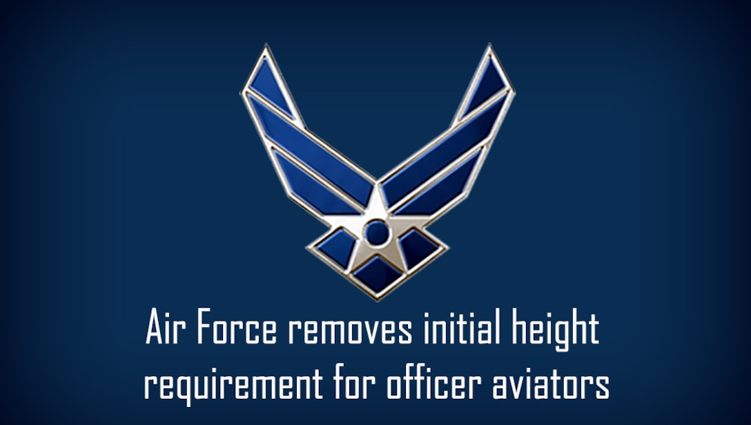blue graphic with U.S. Air Force wings logo