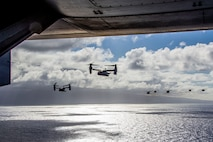 U.S. Marines with Marine Aircraft Group 24, conducted a mass air training mission along the shores of Oahu from Marine Corps Air Station Kaneohe Bay, Marine Corps Base Hawaii, May 19, 2020.