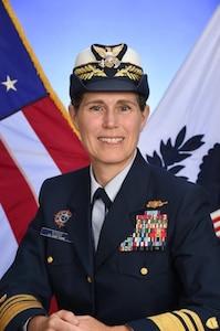 A portrait photo of Vice Admiral Sandra Stosz, USCG