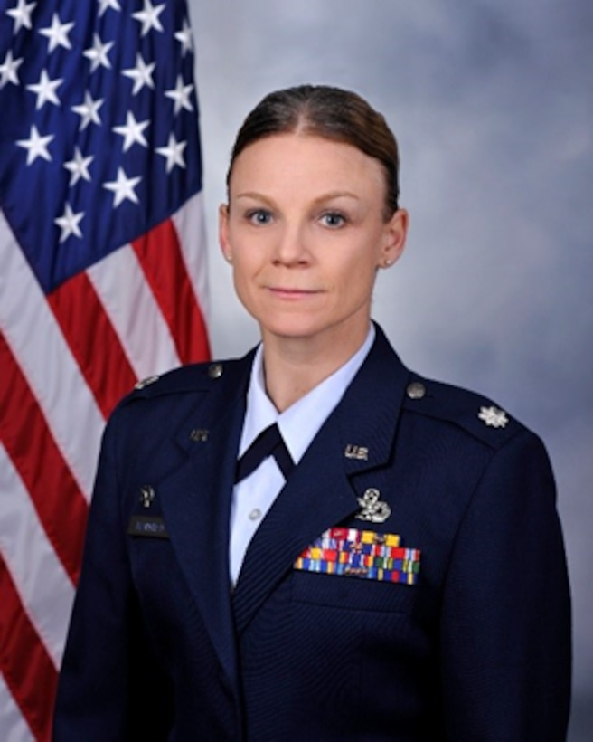 Lt. Col. Katrine M. Waterman poses for a photo.