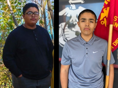 Gabriel Mendez Ramirez, a future Marine with Recruiting Sub-Station Oceanside, Recruiting Station San Diego, lost 186 pounds on his way to become a United States Marine. Ramirez is a native from Oceanside, California and graduated from Rancho Buena Vista High School. (U.S. Marine Corps photo by Sgt. Bernadette Plouffe)
