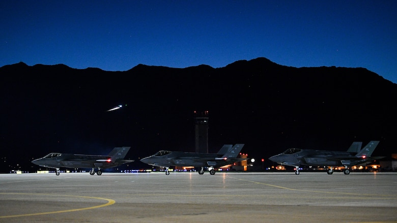 F-35 II Lighting Fighter Squadrons deploy from Hill AFB, Utah, to Al Dhafra Air Base, United Arab Emirtates