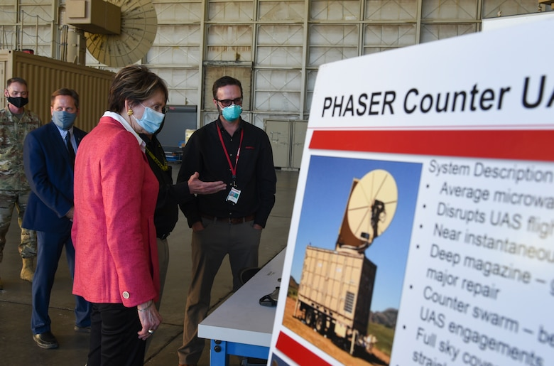 Person being briefed on AFRL directed energy directorate