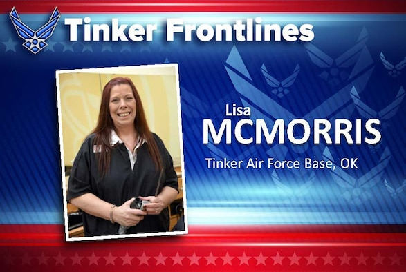 Lisa McMorris is the general manager for the three barber shops on base, including the Tinker Base Exchange, Bldg. 230's flightline shop and inside the Navy Shopette.