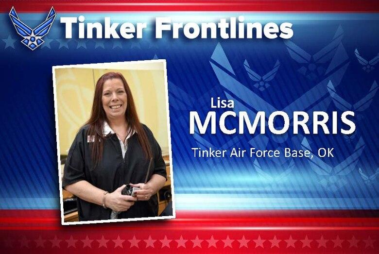 Lisa McMorris is the general manager for the three barber shops on base, including the Tinker Base Exchange, Bldg. 230's flightline shop and inside the Navy Shopette.