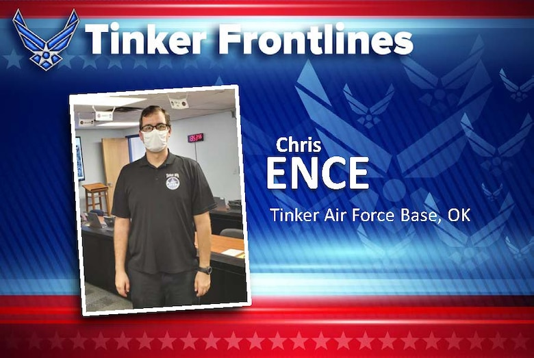 Chris Ence is an emergency management specialist with the 72nd Civil Engineering Directorate.