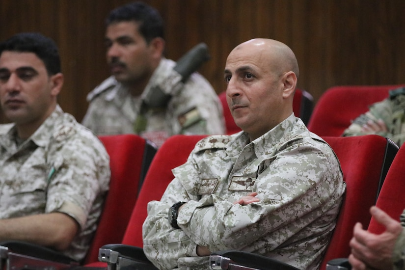 Lt. Col. Khalid Alawaisheh, Commander of the Joint Training Center, at the Instructor Trainer Course (ITC) Class 20.1 graduation for the Jordan Operational Engagement Program (JOEP). The U.S. Army is in Jordan to partner closely with the Jordan Armed Forces in meeting common security challenges. Jordan is one of the United States' closest allies in the region.