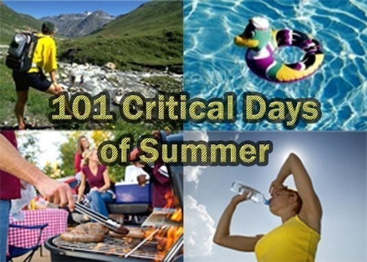 The 101 Critical Days of Summer campaign draws awareness to accident risks associated with summertime activities. (U.S. Army graphic)
