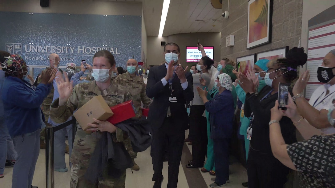 University Hospital Bids Farewell to Army Medical Task Force
