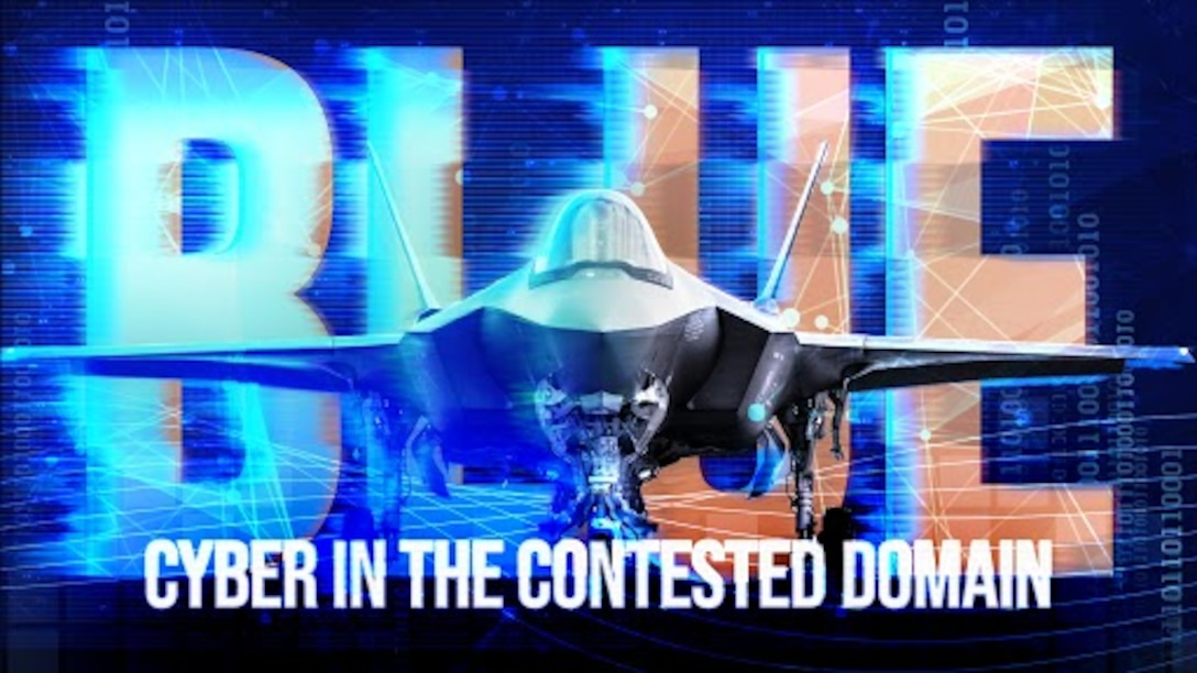 As America's adversaries evolve, the Air Force has to be ready to withstand a digital 'sucker punch'. To mitigate this threat, cybersecurity is being integrated into the development of all new programs from the start. (U.S. Air Force graphic by Travis Burcham)
