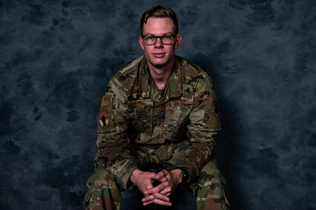 Photo of Airman posing for a photo.
