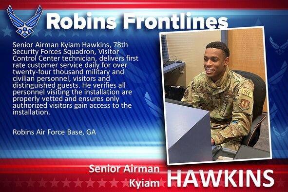 Robins Frontlines: Senior Airman Kyiam Hawkins
