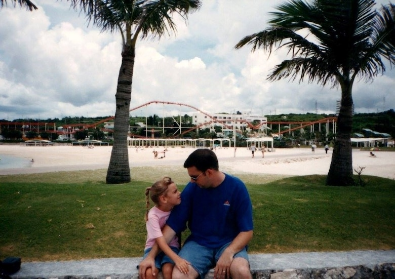 Taylor M. White and her father when she was a child.