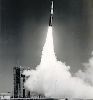 Pictured is a test launch of the Minuteman II. Air Force Technical Orders regarding a multitude of U.S. missile systems, including the Minuteman were seized throughout the espionage investigation. The Minuteman could be remotely controlled, offered precision accuracy, launched in a matter of moments, and was cost effective. It first became operational in 1962 and now over fifty years later, 400 Minuteman III Intercontinental Ballistic Missiles (ICBMs) are still active today. (U.S. Air Force photo)