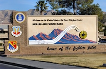 Nellis welcome sign