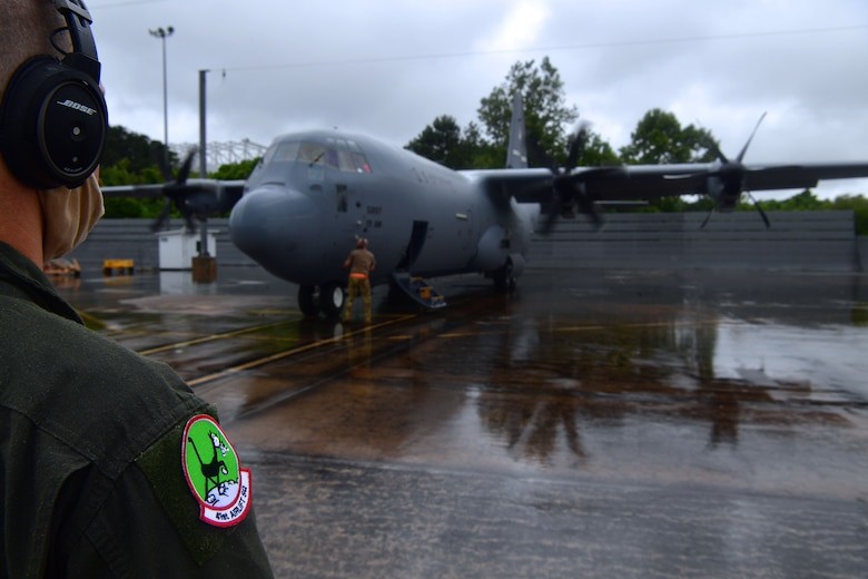 A new C-130J aircraft is delivered to Little Rock Air Force Base