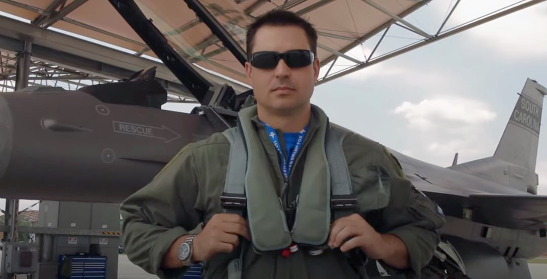 Portrait of U.S. Air Force Lt. Col. Ryan Corrigan, commander of the 169th Operations Support Squadron