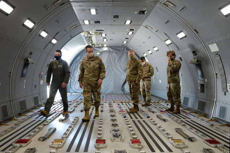 Gen. Joseph L. Lengyel, the Chief of the National Guard Bureau, tours the KC-46A Pegasus during his visit to Pease Air National Guard Base, Newington, N.H., May 27, 2020. (U.S. Air National Guard photo by Senior Master Sgt. Timm Huffman)