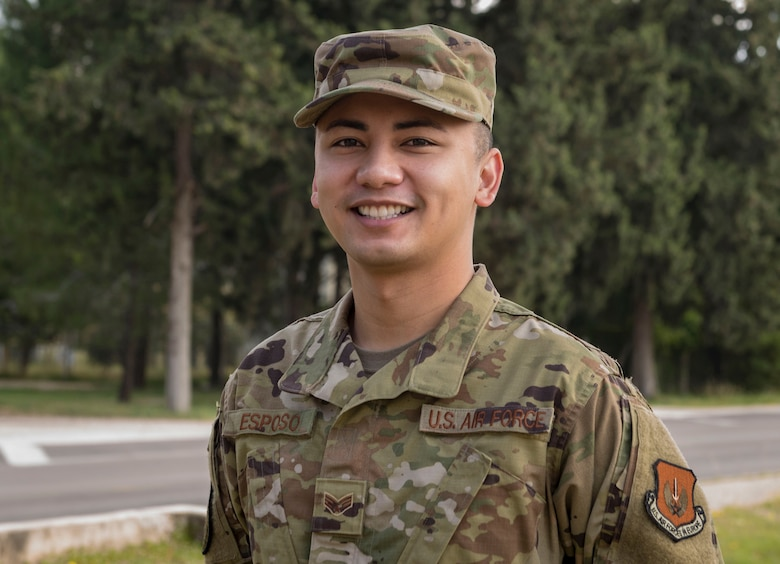 Photo of an Airman smiling