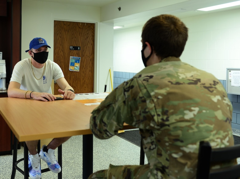A photo of Airmen in the dorms supporting a news story.