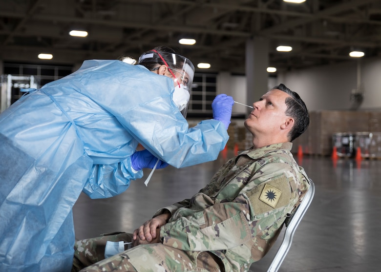 Image of U.S. Air Force Airman First Class Mary Lawrence, a medical technician assigned to the 151st Medical Group.