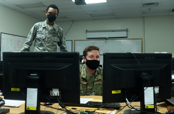 A photo of 55 ISS Airmen supporting a news story.
