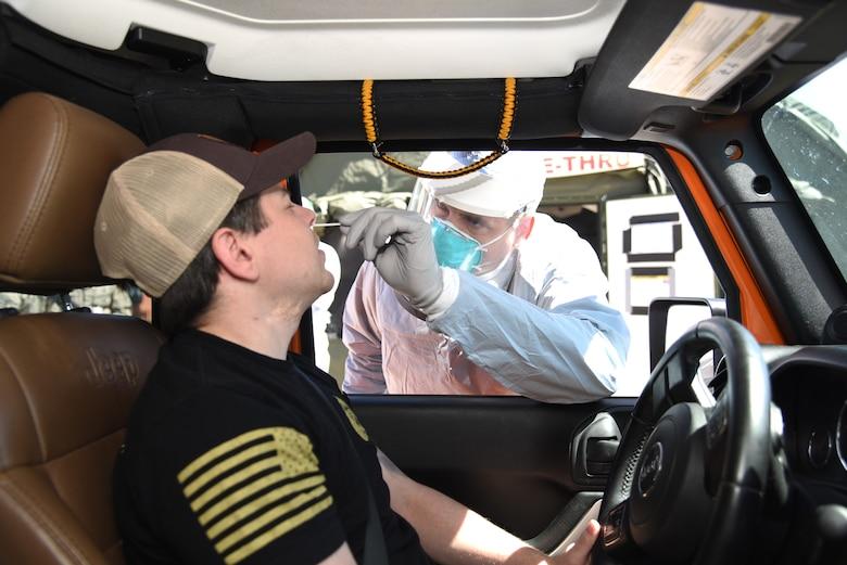 doc swabs patient