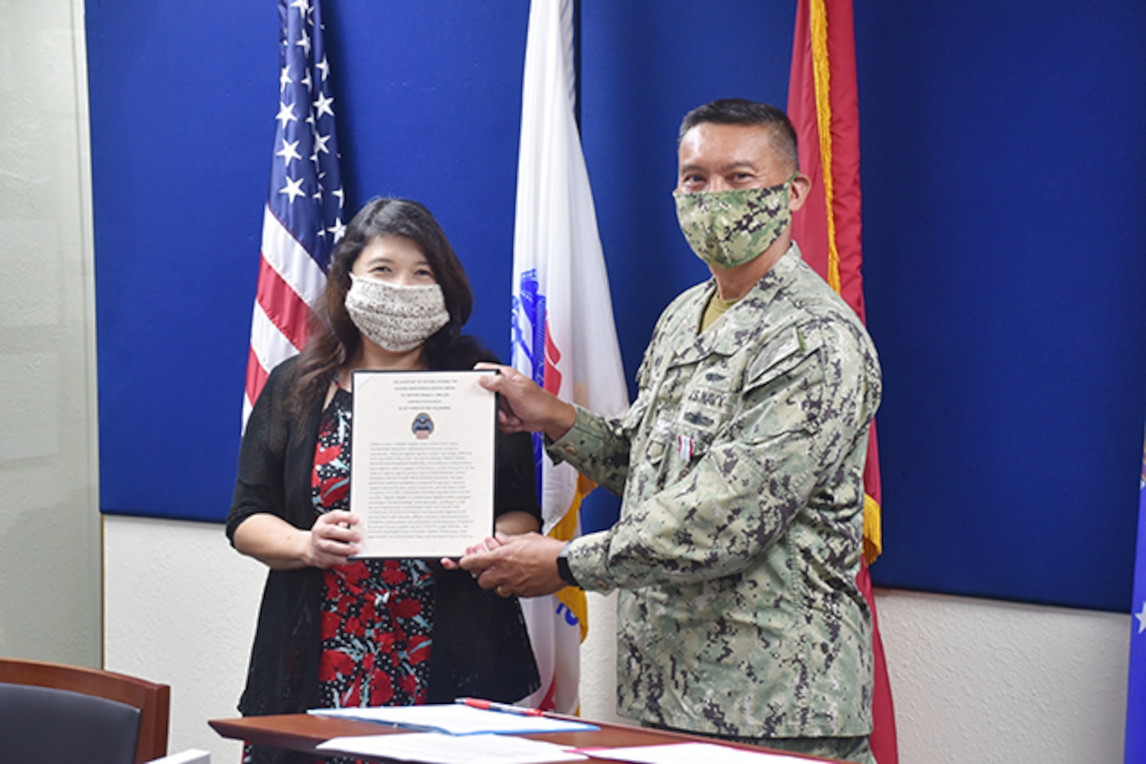 Virtual change of command ceremony celebrates leaders' accomplishments from afar