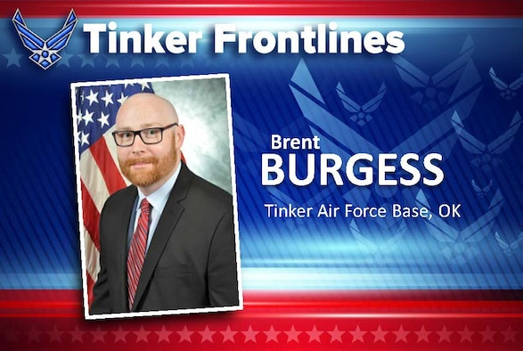 Brent Burgess, director of the 72nd Logistics Readiness Squadron, has 20 years of federal service.