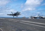 Fighter jet lands on USS Harry S. Truman