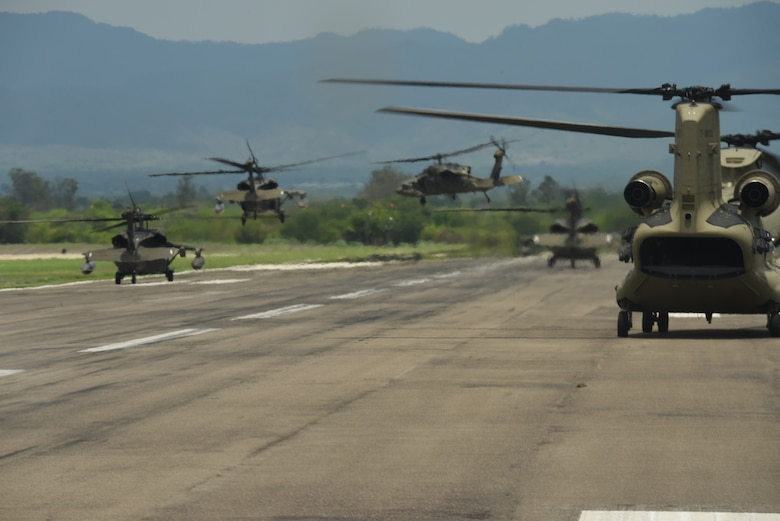 Regiment touch down before another departure during a Battalion Continuity of Operations (COOP) training flight formation over Honduras and El Salvador, May 28, 2020.