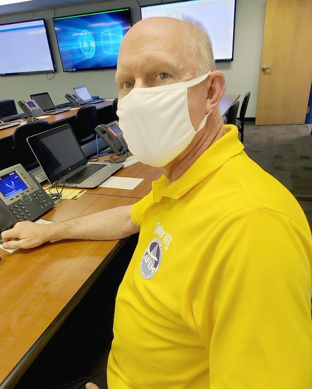 J.D. Hunt is an emergency management specialist in Tinker's Emergency Operations Center.