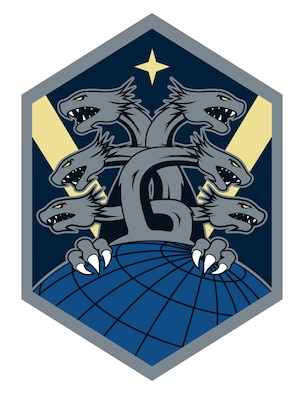 Six-headed hydra emblem.