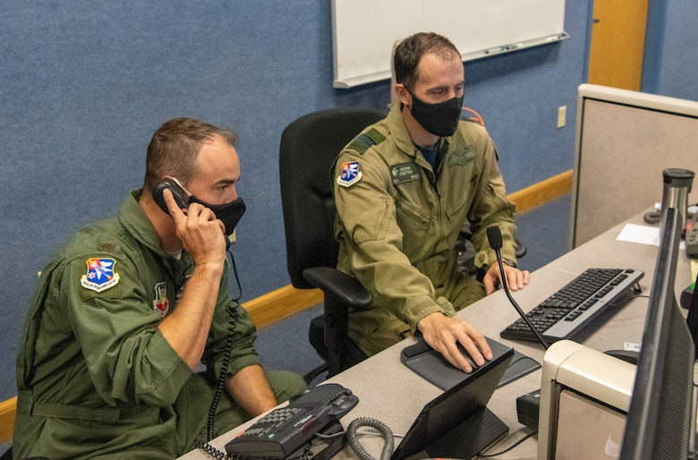Air operations center workers