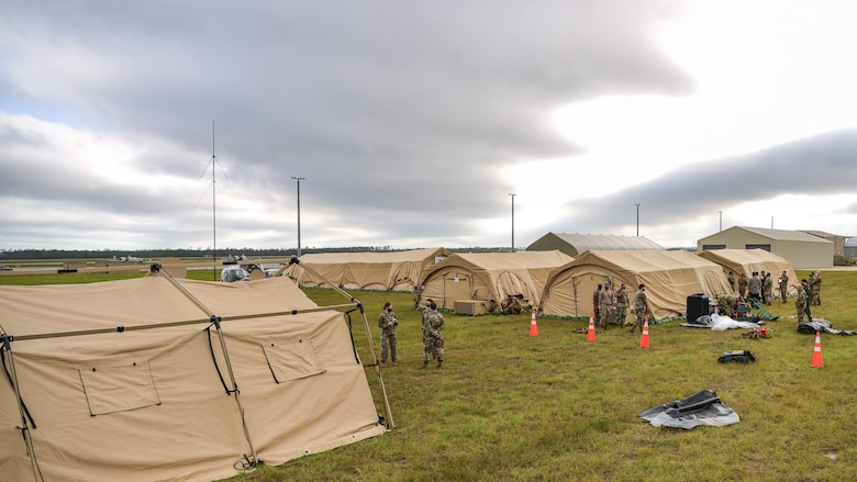 Tent city at Tyndall Air Force Base