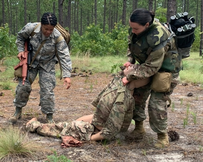 Photo of victim being medically treated.