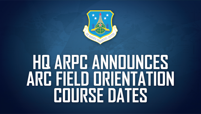 Headquarters Air Reserve Personnel Center will virtually host an Air Reserve Component Field Orientation Course for Air Force Reserve MPF/CSS personnel November 18-19, 2020.