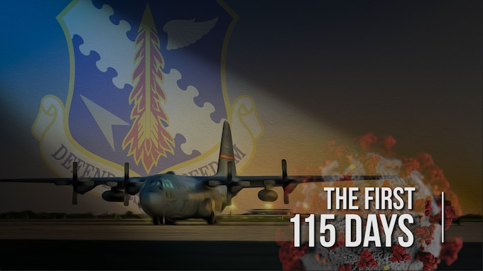 "Title screen for ""The First 115 Days"" human interest feature video."