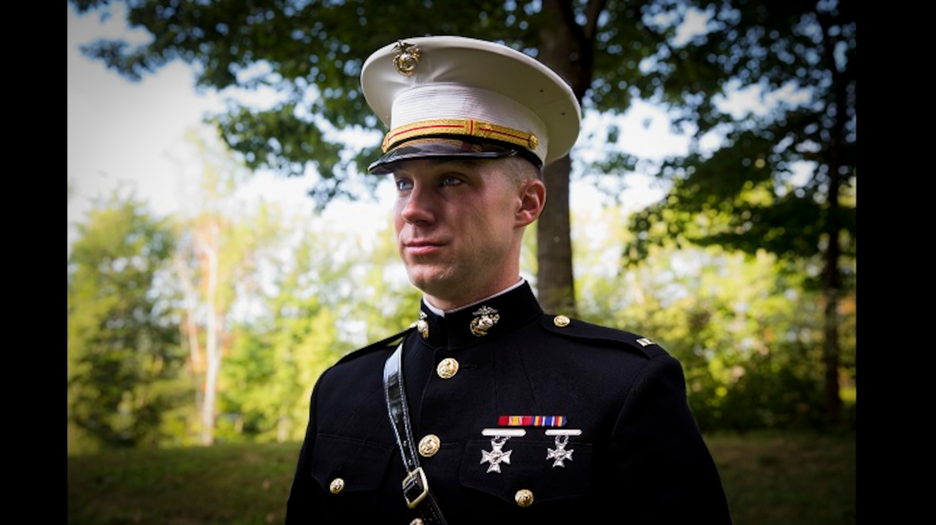 Second Lieutenant Michael McHale poses for a photo at Marine Corps Base Quantico, Virginia, August 23, 2019. McHale enlisted in the Marine Corps in 2015 before being accepted to the Enlisted Commissioning Program (ECP). The program is designed to provide the opportunity for Marines who have...