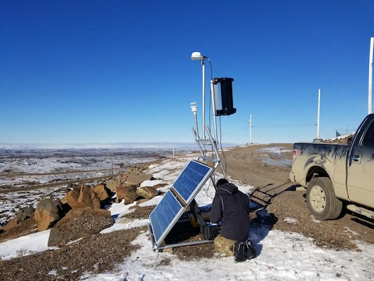 One of eight Inuit Marine Monitoring Program (IMMP) Automatic Identification System (AIS) sites in the Arctic.
