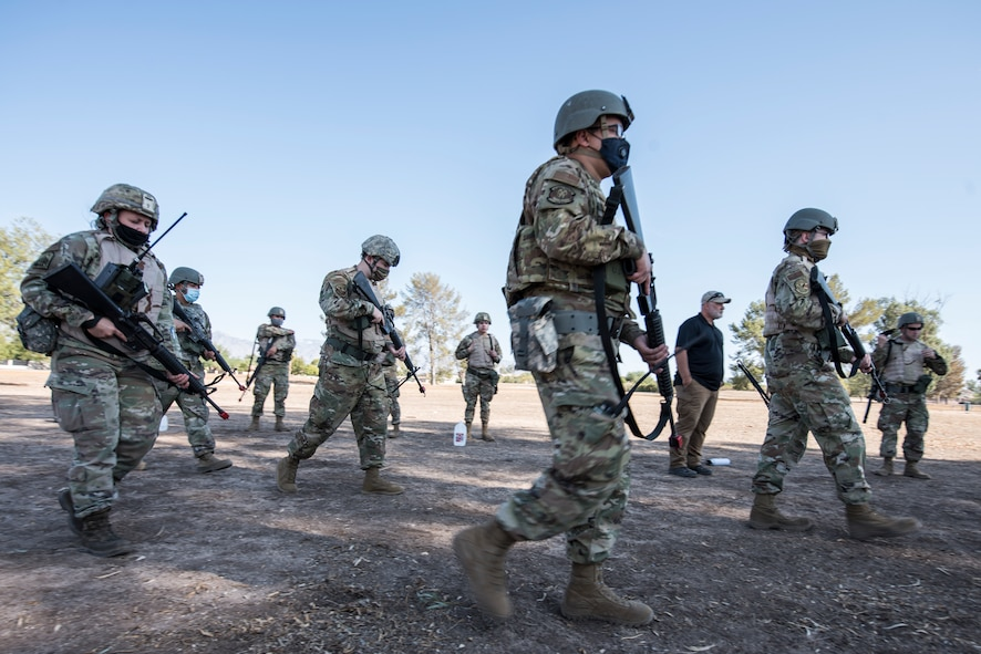 A photo of Airmen conducting security forces training