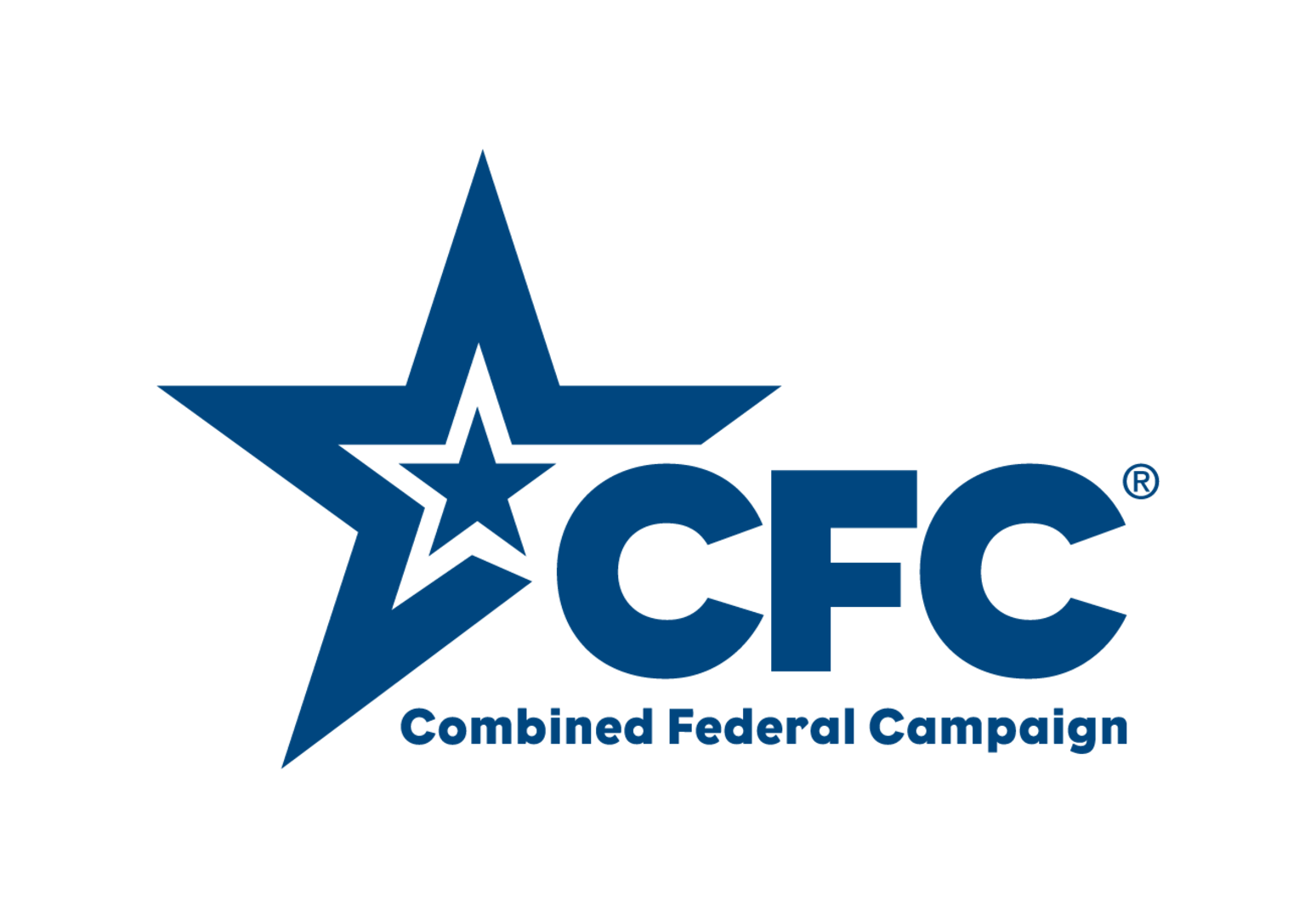 Blue star imposed inside another blue star with the words Combined Federal Campaign