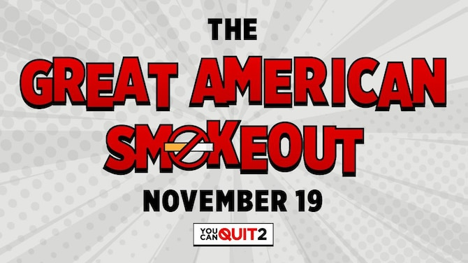 The Great American Smokeout graphic